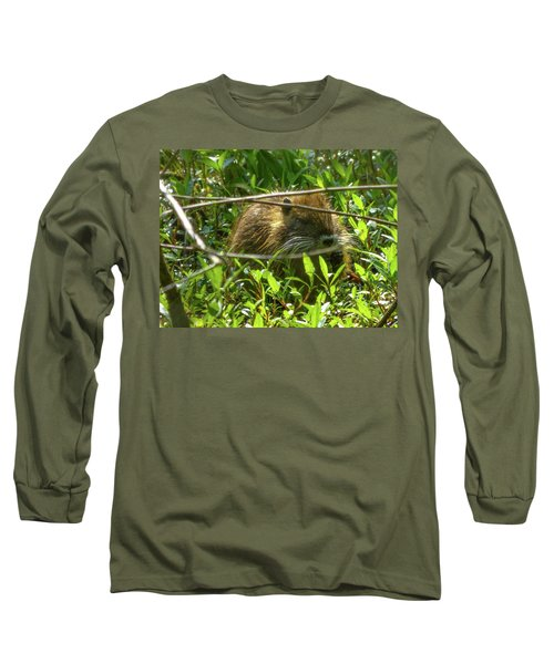 Young Nutria In Love Long Sleeve T-Shirt by Kimo Fernandez