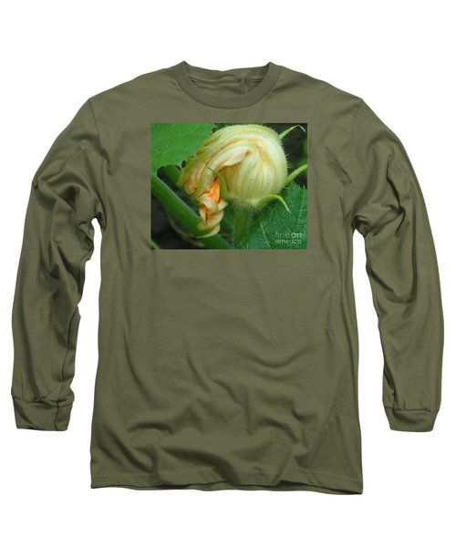 Young Pumpkin Blossom Long Sleeve T-Shirt by Christina Verdgeline