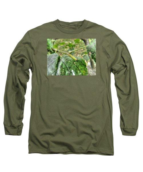 Long Sleeve T-Shirt featuring the pyrography Yury Bashkin Greeeenn by Yury Bashkin