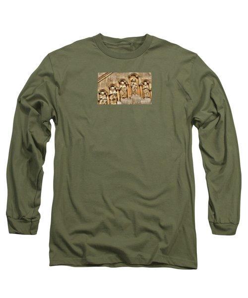 Long Sleeve T-Shirt featuring the pyrography Yury Bashkin Wall Budapesht Hyngary by Yury Bashkin
