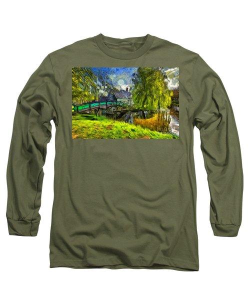 Zaanse Schans Long Sleeve T-Shirt by Eva Lechner
