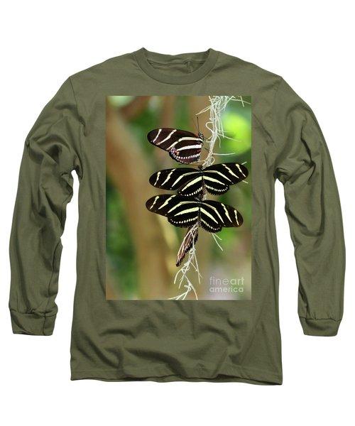 Zebra Butterflies Hanging On Long Sleeve T-Shirt