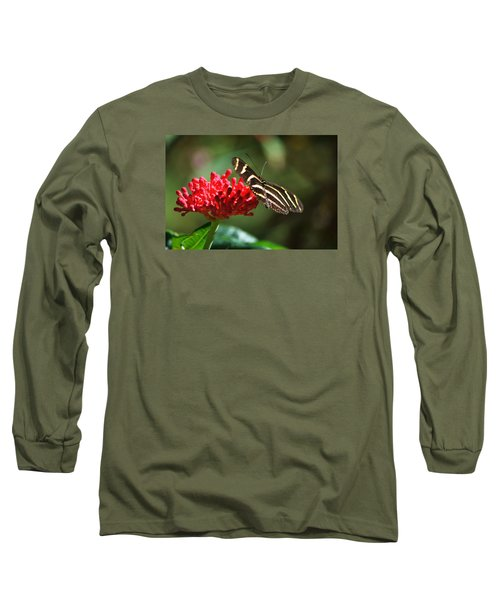 Zebra Heliconia Butterfly Long Sleeve T-Shirt