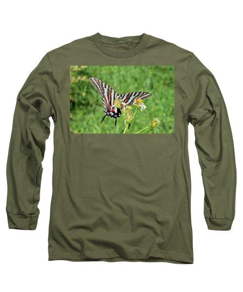Zebra Swallowtail And Ladybug Long Sleeve T-Shirt