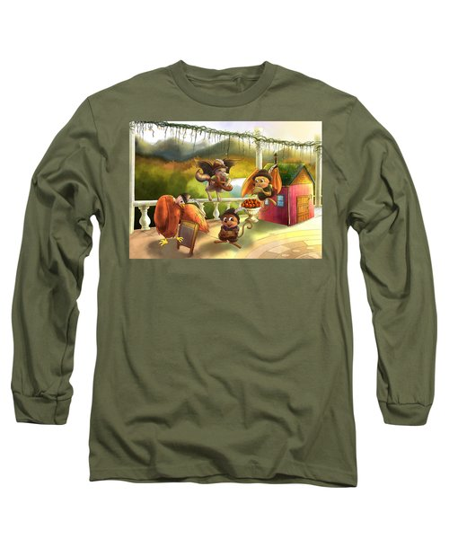 Zeke Cedric Alfred And Polly Long Sleeve T-Shirt
