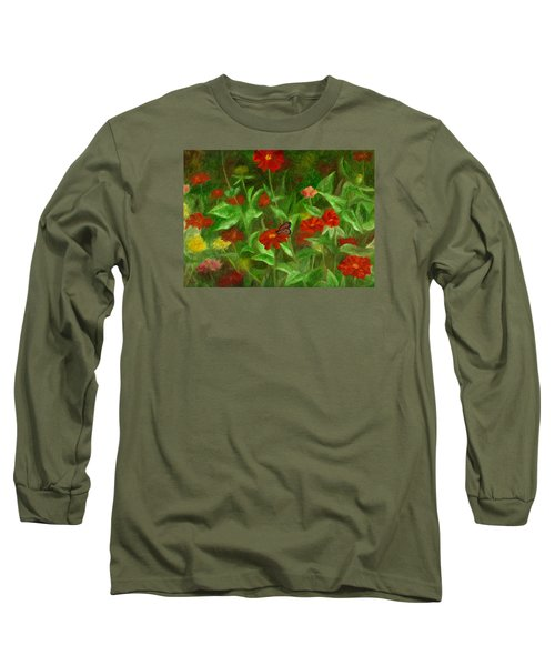 Zinnias Long Sleeve T-Shirt