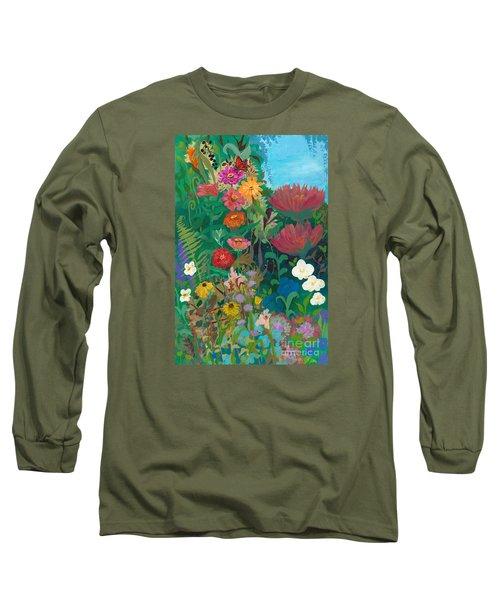 Zinnias Garden Long Sleeve T-Shirt