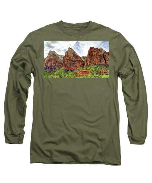 Zion N P # 41 - Court Of The Patriarchs Long Sleeve T-Shirt