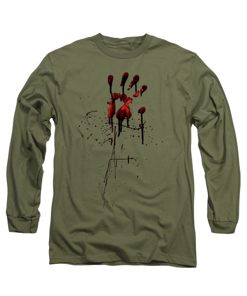 Zombie Attack - Bloodprint Long Sleeve T-Shirt