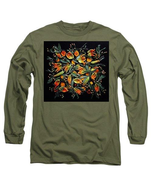 Zucchini Flower Patterns Long Sleeve T-Shirt
