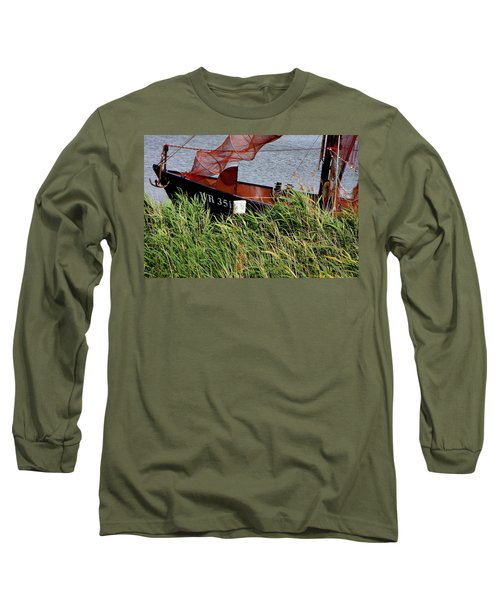 Long Sleeve T-Shirt featuring the photograph Zuiderzee Boat by KG Thienemann