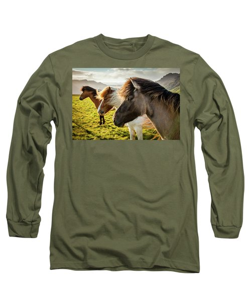 Icelandic Horses Long Sleeve T-Shirt