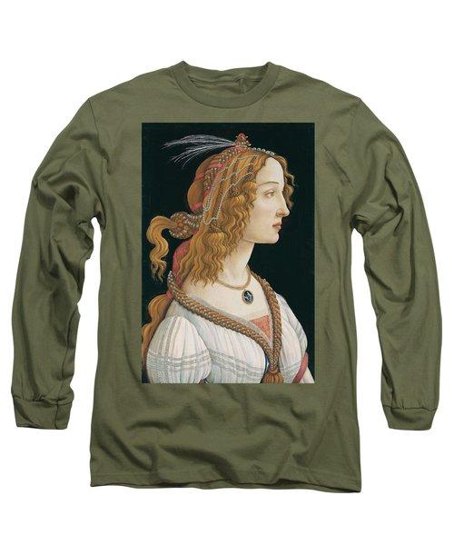 Portrait Of A Young Woman, Portrait Of Simonetta Vespucci As Nymph Long Sleeve T-Shirt