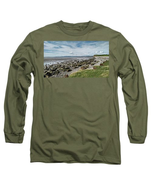 Morecambe. Hest Bank. The Shoreline. Long Sleeve T-Shirt