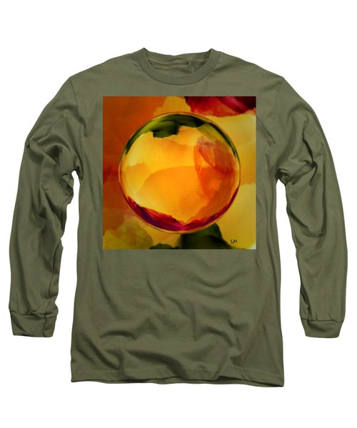 Watercolor Glass Marble  Long Sleeve T-Shirt