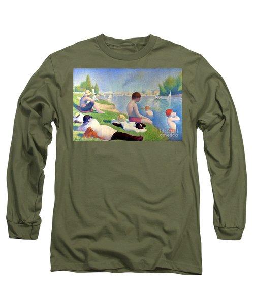Bathers At Asnieres Long Sleeve T-Shirt