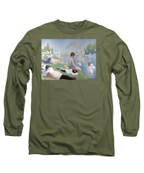 Bathers At Asnieres Long Sleeve T-Shirt