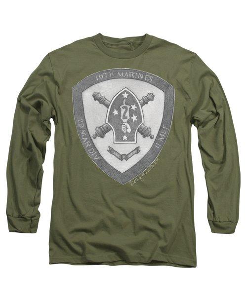 10th Marines Crest Long Sleeve T-Shirt