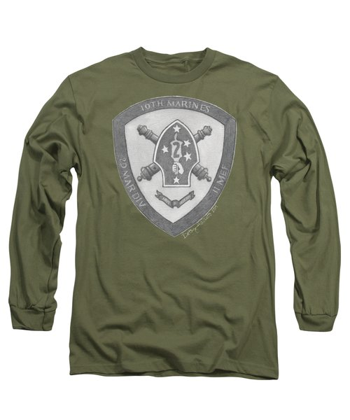 10th Marines Crest Long Sleeve T-Shirt