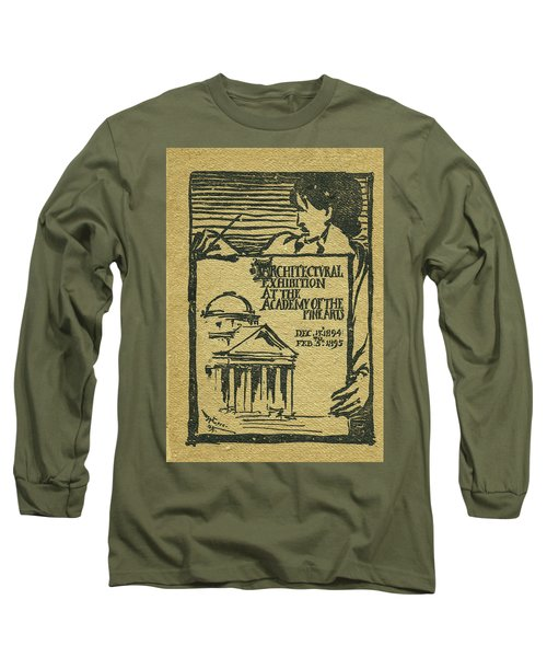 1894-95 Catalogue Of The Architectural Exhibition At The Pennsylvania Academy Of The Fine Arts Long Sleeve T-Shirt