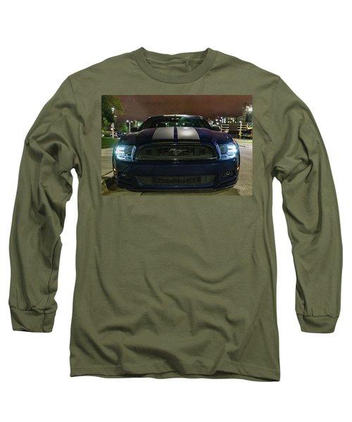 Long Sleeve T-Shirt featuring the photograph 2014 Ford Mustang by Randy Scherkenbach