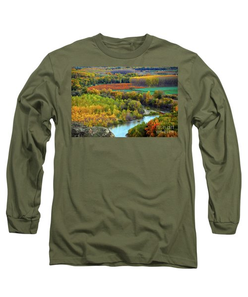 Autumn Colors On The Ebro River Long Sleeve T-Shirt