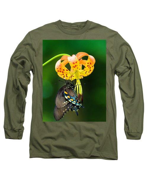 Swallowtail On Turks Cap Long Sleeve T-Shirt