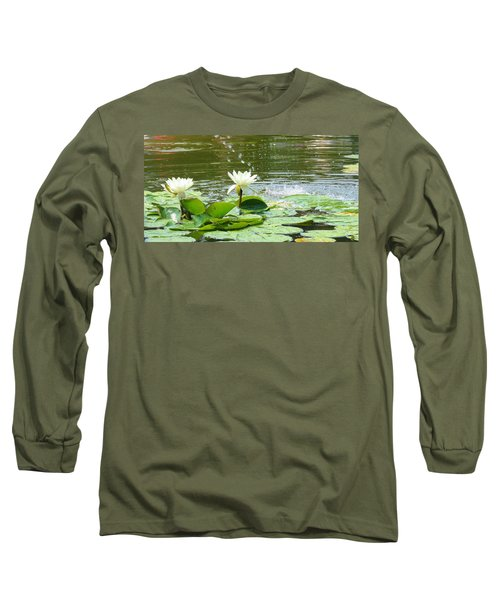 2 White Water Lilies Long Sleeve T-Shirt