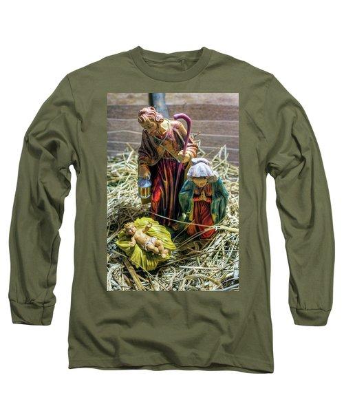 Birth Of Jesus Long Sleeve T-Shirt