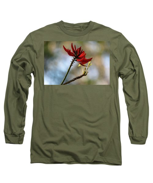 Coral Tree Flowers Long Sleeve T-Shirt
