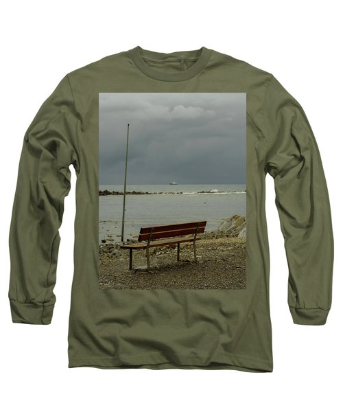 A Bench On Which To Expect, By The Sea Long Sleeve T-Shirt