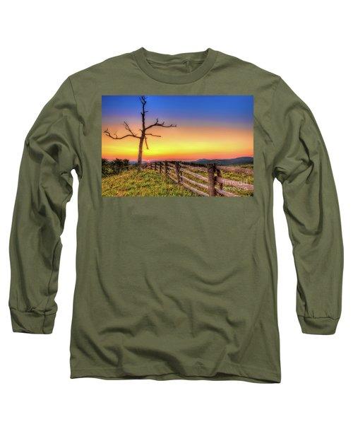 A Gorgeous Blue Ridge Sunrise Long Sleeve T-Shirt