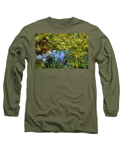 Long Sleeve T-Shirt featuring the photograph A Peek At The River by David Patterson