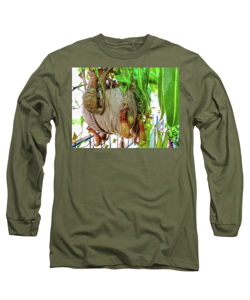 A Pitcher Plant On Our Terrace In Thailand Long Sleeve T-Shirt