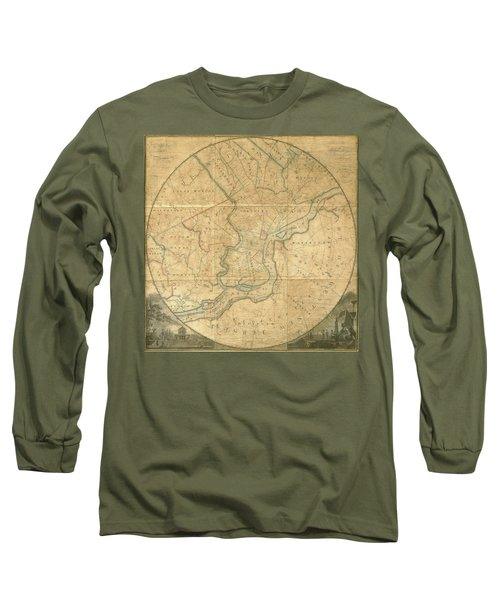 A Plan Of The City Of Philadelphia And Environs, 1808-1811 Long Sleeve T-Shirt