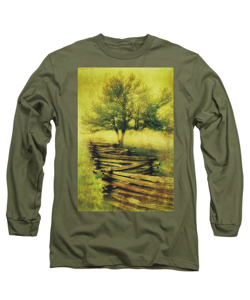 A Shady Tree On A Foggy Day Fx Long Sleeve T-Shirt