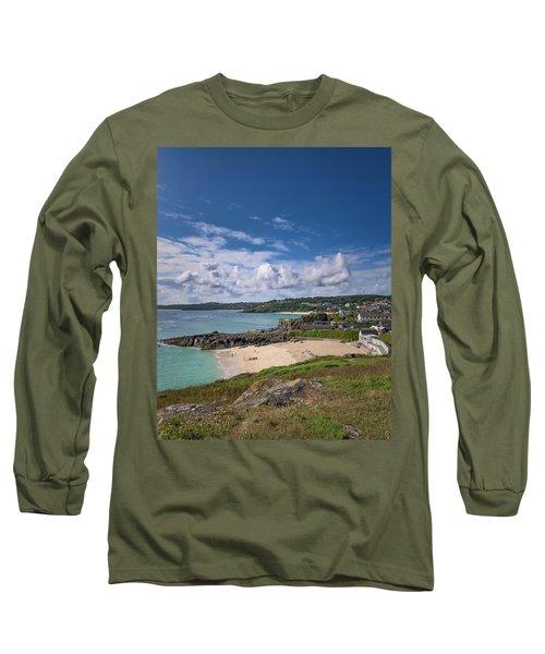 A Walk To Porthgwidden Beach - St Ives Cornwall Long Sleeve T-Shirt