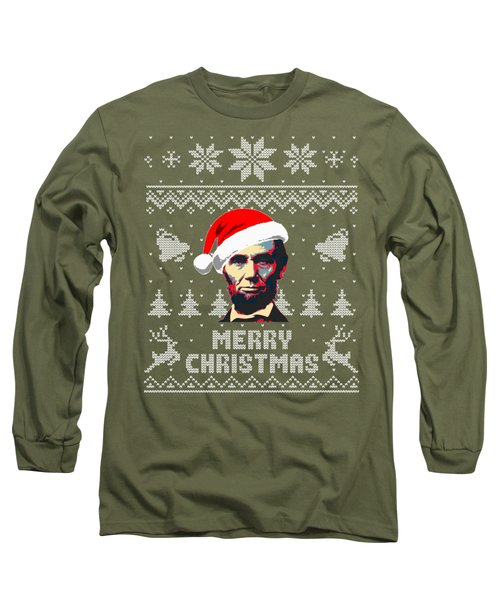 Abraham Lincoln Merry Christmas Long Sleeve T-Shirt
