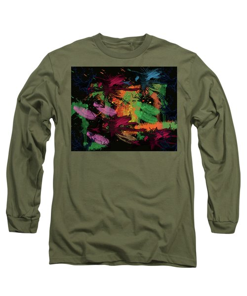 Abstract Action Series 01 Long Sleeve T-Shirt