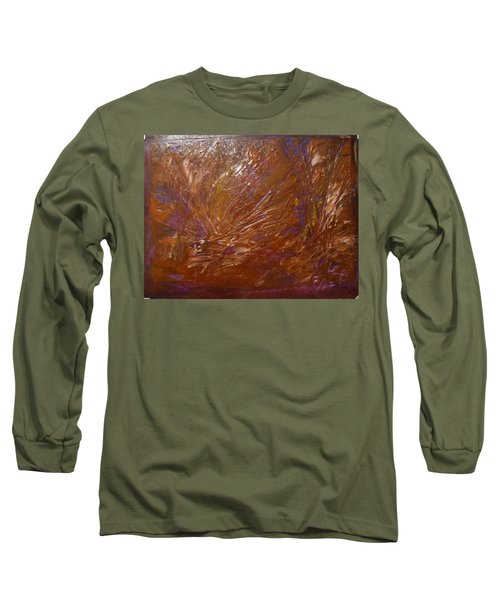 Abstract Brown Feathers Long Sleeve T-Shirt