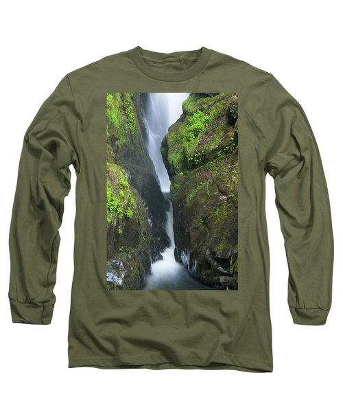 Aira Force Waterfall In The Lake District. England.  Long Sleeve T-Shirt