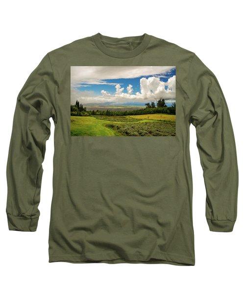 Alii Kula Lavender Farm Long Sleeve T-Shirt
