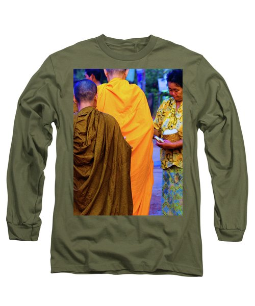 Alms For The Monks Long Sleeve T-Shirt