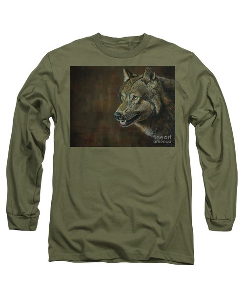 Alpha Male ......the Gray Wolf Long Sleeve T-Shirt