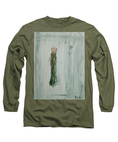 Angel In Green Long Sleeve T-Shirt