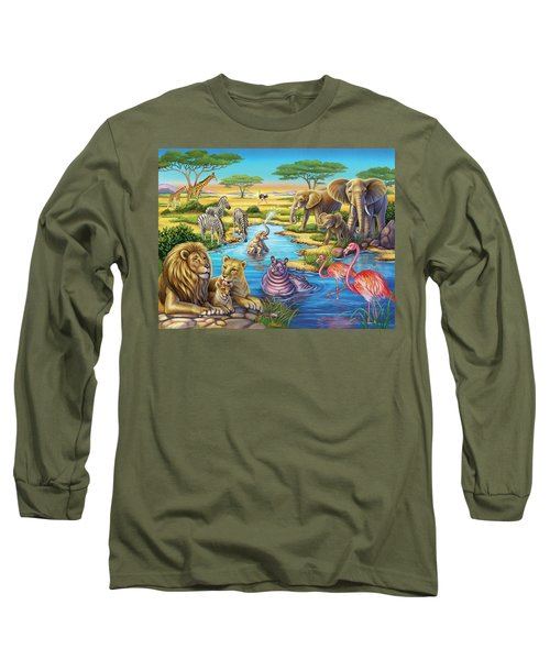 Animals In Africa Long Sleeve T-Shirt