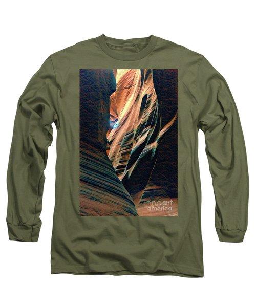 Antelope Abstract Canyon  Long Sleeve T-Shirt