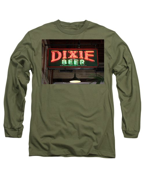 Antique Dixie Beer Neon Sign Long Sleeve T-Shirt