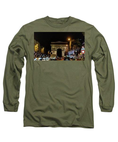 Long Sleeve T-Shirt featuring the photograph Arc De Triomphe by Randy Scherkenbach