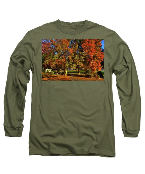 Long Sleeve T-Shirt featuring the photograph Autumn In Reaney Park by David Patterson